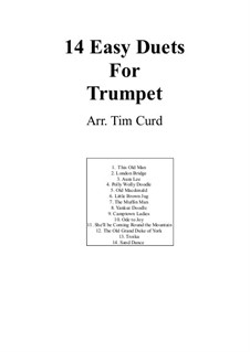 Fourteen Easy Duets: For two trumpets by Ludwig van Beethoven, Stephen Collins Foster, folklore, Unknown (works before 1850)
