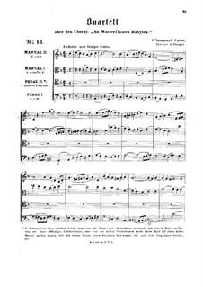 Quartet on the Chorale 'An Wasserflüssen Babylon': Quartet on the Chorale 'An Wasserflüssen Babylon' by Immanuel Gottlob Friedrich Faißt