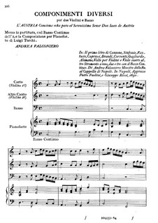 Pieces for Two Violins, Cello and Piano: Pieces for Two Violins, Cello and Piano by Andrea Falconieri