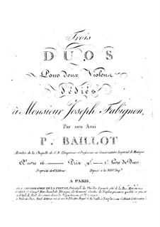 Three Duos for Two Violins, Op.16: Três duetos para dois violinos by Pierre Baillot