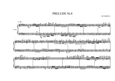 Prelude No.8 for piano, MVWV 89: Prelude No.8 for piano by Maurice Verheul