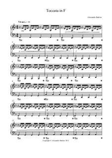 Toccata in F: Toccata in F by Alexander Barlow