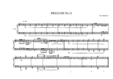 Prelude No.11 for piano, MVWV 92: Prelude No.11 for piano by Maurice Verheul