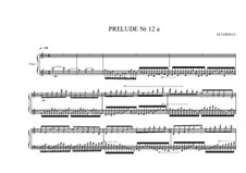 Prelude No.12a for piano, MVWV 93: Prelude No.12a for piano by Maurice Verheul