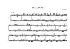 Prelude No.14 for piano, MVWV 96: Prelude No.14 for piano by Maurice Verheul