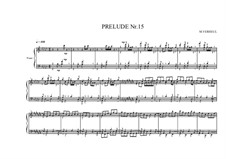Prelude No.15 for piano, MVWV 97: Prelude No.15 for piano by Maurice Verheul