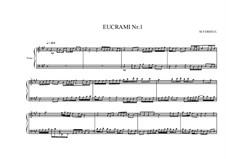 Eucrami No.1 for Piano, MVWV 102: Eucrami No.1 for Piano by Maurice Verheul