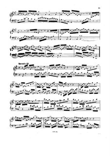 No.13 in A Minor, BWV 784: Para Piano by Johann Sebastian Bach