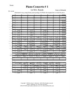 Piano Concerto No.1: Movement I – score & parts by Gary Edwards