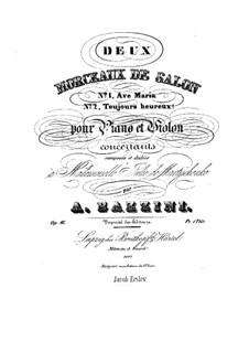 Two Pieces, Op.16: duas peças by Antonio Bazzini