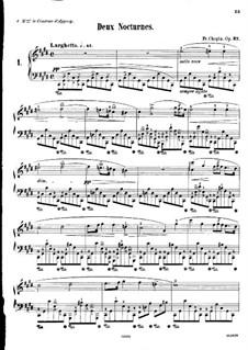 Nocturnes, Op.27: No 1 em C sustenido menor by Frédéric Chopin