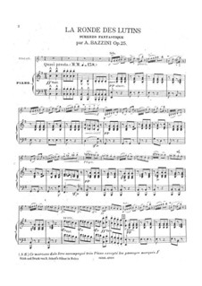 La ronde des lutins, Op.25: La ronde des lutins by Antonio Bazzini