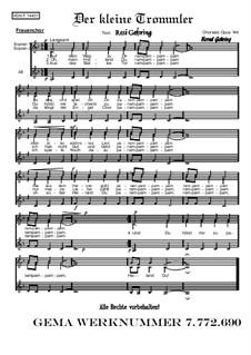 Weihnachtliches. Der kleine Trommler, Op.144: Weihnachtliches. Der kleine Trommler, Op.144 by folklore
