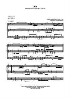 Aria in D Major by Bach and Rondo from 'Abdelazer' by Purcell. Arranged for organ: Aria in D Major by Bach and Rondo from 'Abdelazer' by Purcell. Arranged for organ by Johann Sebastian Bach, Henry Purcell