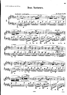 Nocturnes, Op.32: No 1 em B maior by Frédéric Chopin