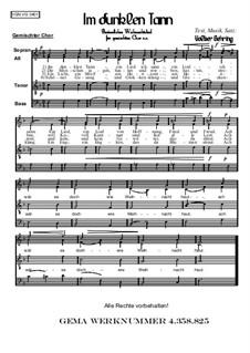 Weihnachtliches: Im dunklen Tann, Op.004: Weihnachtliches: Im dunklen Tann by Volker Gehring