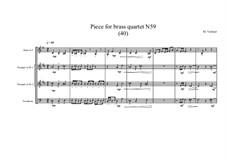 Piece for brass quartet No.59 (40), MVWV 162: Piece for brass quartet No.59 (40) by Maurice Verheul