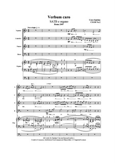 Verbum caro. SATB and organ, CS118 No.2: Verbum caro. SATB and organ by Santino Cara