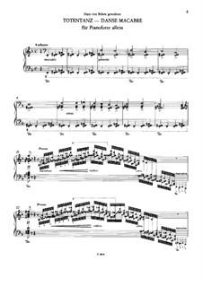 Dance of Death, for Piano, S.525: para um único musico (Editado por H. Bulow) by Franz Liszt