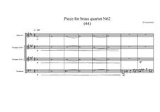Piece for brass quartet No.62 (44), MVWV 165: Piece for brass quartet No.62 (44) by Maurice Verheul
