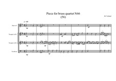 Piece for brass quartet No.66 (56), MVWV 169: Piece for brass quartet No.66 (56) by Maurice Verheul