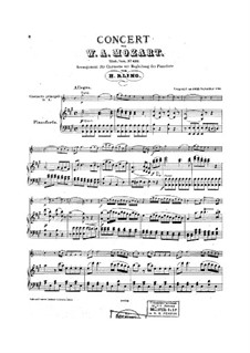 Concerto for Clarinet and Orchestra in A Major, K.622: Arrangement for clarinet and piano by Wolfgang Amadeus Mozart