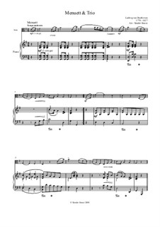 Six Minuets for Orchestra, WoO 10: Minuet No.3. Version for viola and piano by Ludwig van Beethoven