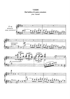Falstaff: Aria di Fenton 'Dal labbro il canto estasiato' by Giuseppe Verdi