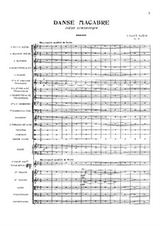 Danse macabre (The Dance of Death), Op.40: partitura completa by Camille Saint-Saëns