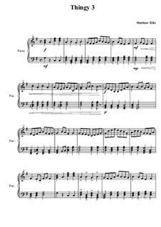Thingy No.3: parte piano by Matthew Ellis