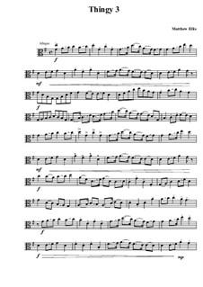 Thingy No.3: parte viola by Matthew Ellis