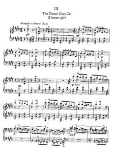 Three Piano Pieces: No.3 The Dance Goes On by Edvard Grieg