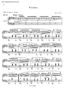 No.1 in D Flat Major: Para Piano by Frédéric Chopin