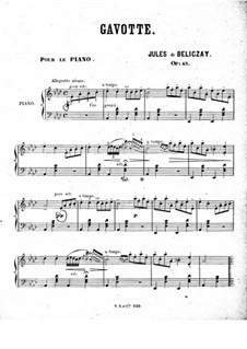 Gavotte, Op.43: gavota by Gyula Beliczay