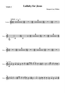 Lullaby for Jesus: violino parte I by Margaret Lucy Wilkins