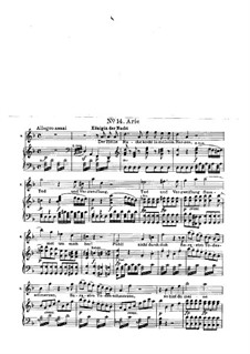 Hell's Vengeance Boils in My Heart: Para vocais e piano by Wolfgang Amadeus Mozart
