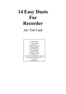Fourteen Easy Duets: For two recorders by Ludwig van Beethoven, Stephen Collins Foster, folklore, Unknown (works before 1850)