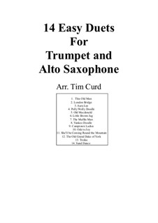 Fourteen Easy Duets: For trumpet and alto saxophone by Ludwig van Beethoven, Stephen Collins Foster, folklore, Unknown (works before 1850)