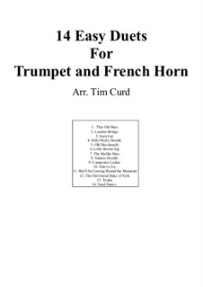 Fourteen Easy Duets: For trumpet and french horn by Ludwig van Beethoven, Stephen Collins Foster, folklore, Unknown (works before 1850)