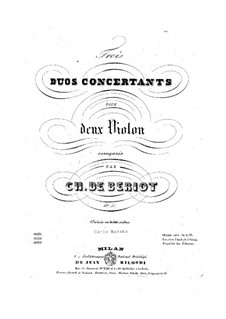 Three Concert Duos, Op.57: set completo by Charles Auguste de Beriot