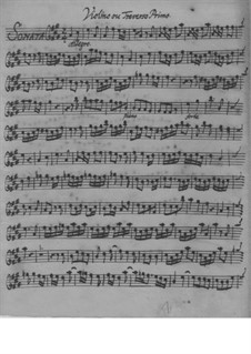 Trio Sonata for Two Violins (or Two Flutes) and Basso Continuo in A Major, QV 2:Anh.32: Trio Sonata for Two Violins (or Two Flutes) and Basso Continuo in A Major by Johann Joachim Quantz