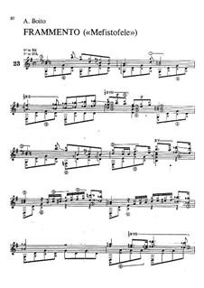 Mefistofele: Fragment, for guitar by Arrigo Boito