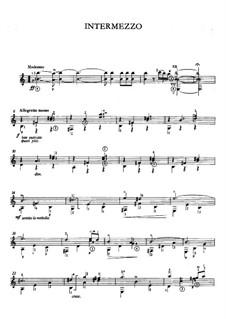 Goyescas: Intermezzo, for guitar by Enrique Granados