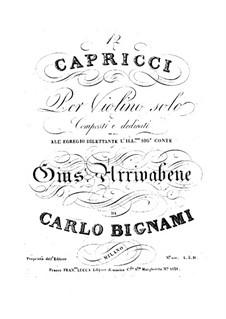 Twelve Caprices: Twelve Caprices by Carlo Bignami