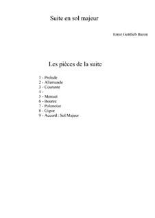 Suite in G Major: Suite in G Major by Ernst Gottlieb Baron