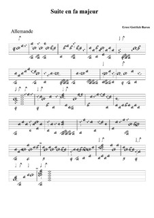 Suite in F Major: guia by Ernst Gottlieb Baron