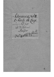 Dodici balletti a tre, Op.3: No.9 in G Minor – Parts by Tomaso Albinoni