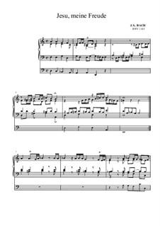 Neumeister Chorales: Jesu, meine Freude, BWV 1105 by Johann Sebastian Bach