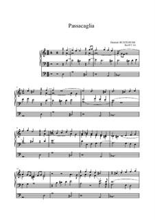 Passacaglia for Organ in D Minor, BuxWV 161: para um único musico (Editado por H. Bulow) by Dietrich Buxtehude