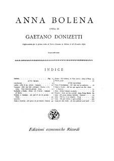 Anna Bolena: Para Piano by Gaetano Donizetti